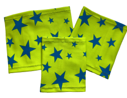 Brazalete elástico - Estrella - fondo verde | Talla 14 - 17 cm, Talla 17 - 22 cm, Talla 20 - 26 cm, Talla 25 - 30 cm, Talla 28 - 36 cm
